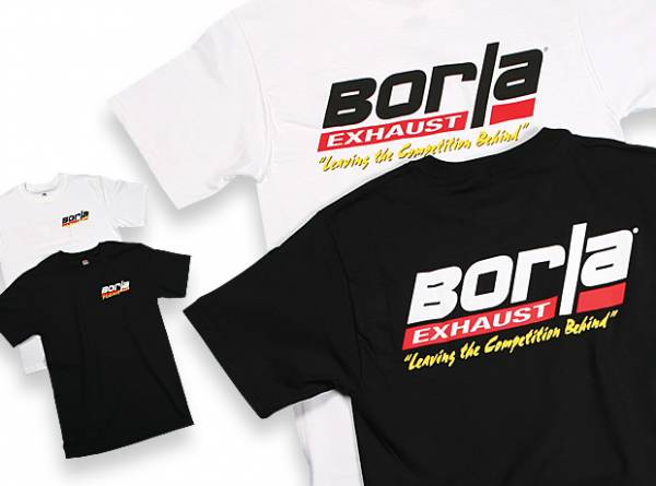 Borla - Borla Men's Motorsports White T-Shirt - XL 21210
